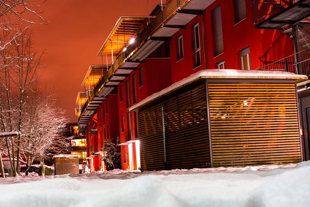 Weiherstraße by night